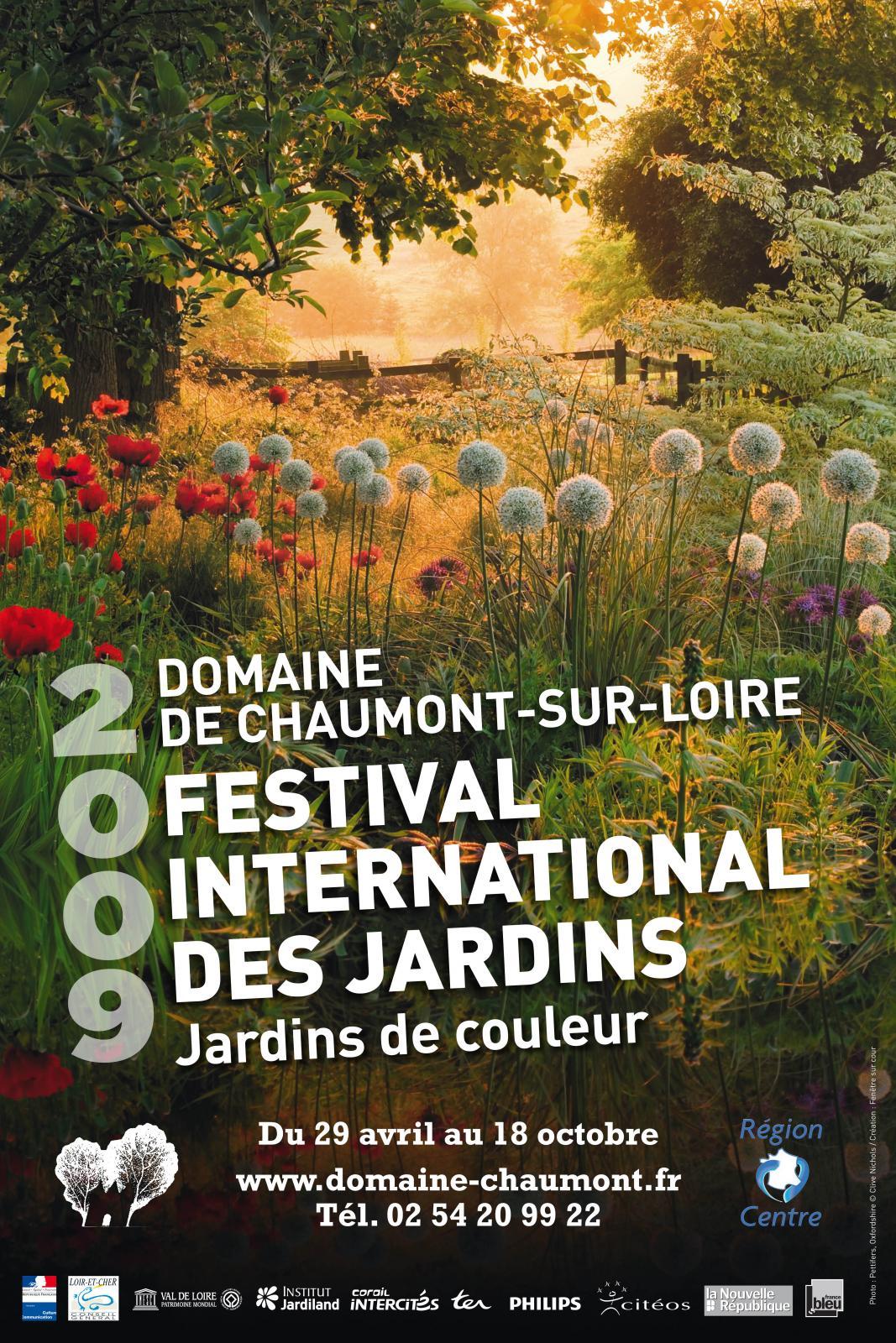Festival Des Jardins Chaumont Sur Loire 2009 2009 edition - gardens of colour | domaine de chaumont-sur-loire